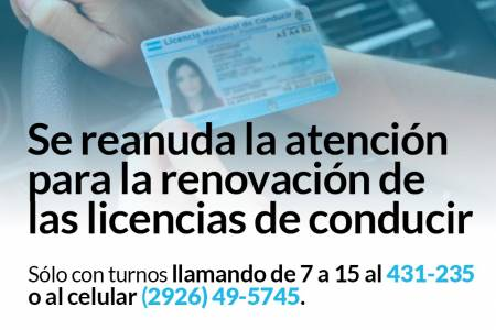 Dirección de Inspección Municipal: Se reanuda la renovación de Licencias de Conducir