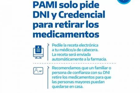 PAMI solo pide DNI y Credencial para retirar los medicamentos