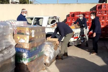 Redes Solidarias. La cooperativa Obrera donó alimentos para la comunidad