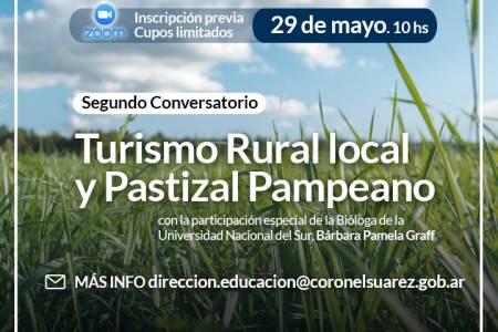 """Segundo Conversatorio Educación - Turismo - Medio Ambiente """"Hablemos de Turismo Rural local y Pastizal Pampeano"""""""