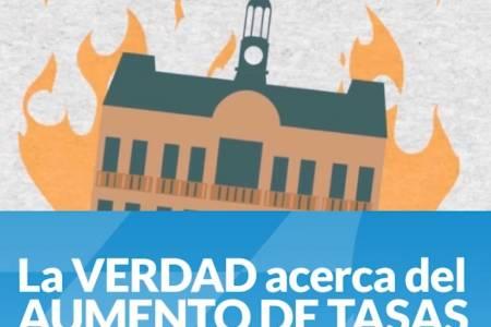 Municipalidad: Queremos contarte la verdad acerca del AUMENTO DE TASAS y por qué el Municipio lo necesita