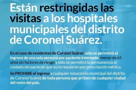 Hospitales Municipales - Restricción de visitas y prohibición de ingreso a personas de otros distritos