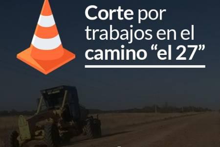 """Corte por trabajos en el camino """"el 27"""""""