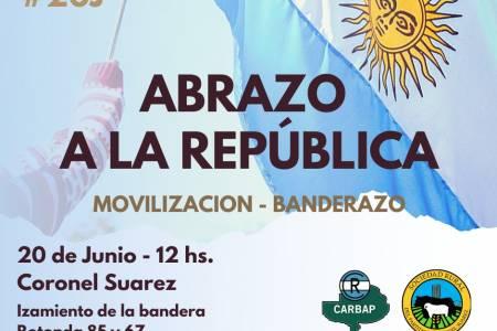 Abrazo a la República. Movilización - Banderazo