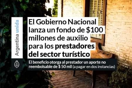 El Gobierno Nacional lanza un fondo de $ 100 millones de auxilio para los prestadores del sector turístico