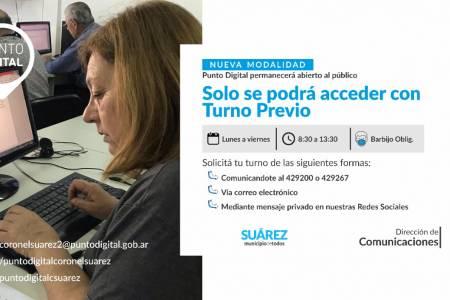 Punto Digital Coronel Suárez atenderá sólo con turno previo