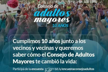 El Consejo de Adultos Mayores cumple 10 años junto a los vecinos y vecinas