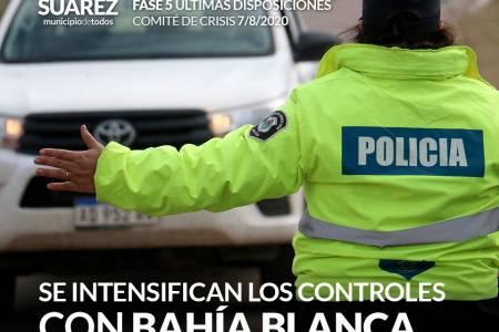 Se intensificarán los controles con Bahía Blanca y distritos con COVID-19
