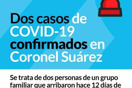 ATENCIÓN CORONEL SUAREZ: DOS CASOS DE COVID-19 CONFIRMADOS