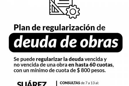 Plan de regularización de deuda de obras