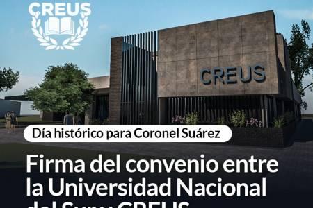 Firma del convenio entre la Universidad Nacional del Sur y CREUS