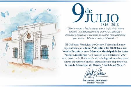 """Gran Velada Patriótica el 9 de Julio organizada por la Banda Municipal de Música """"Bartolomé Meier"""""""