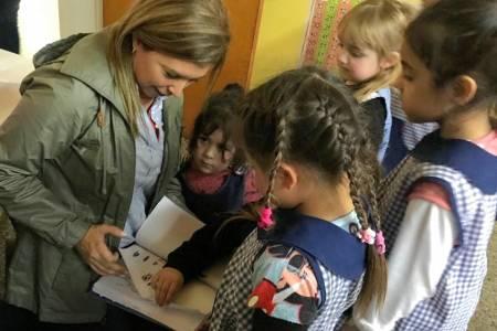 Julieta Centeno visitó Tornquist
