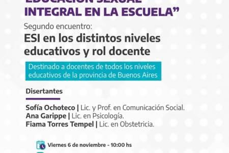 """Conversatorio: """"Educación Sexual Integral en la escuela"""""""
