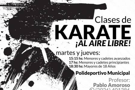 """Vuelven las clases de Karate al """"aire libre"""""""