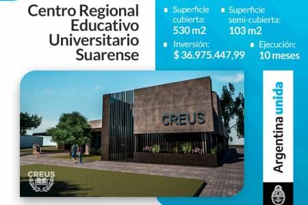 Campus Educativo CREUS: Moccero firmó el contrato para dar inicio a la obra