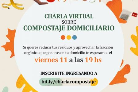 Charla virtual sobre compostaje domiciliario