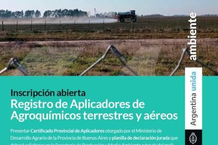 Registro municipal de aplicaciones de agroquímicos