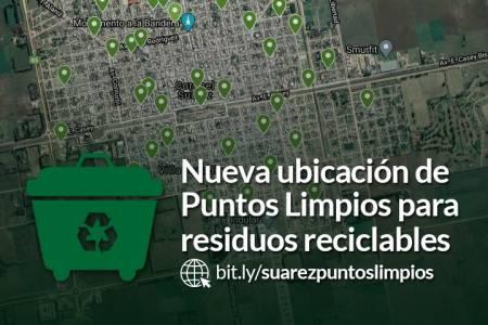 Nueva ubicación de Puntos Limpios para residuos reciclables