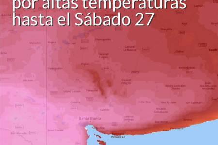Servicio Meteorológico de Coronel Suárez: Advertencia Violeta por altas temperaturas