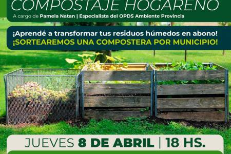Charla sobre compostaje con especialista del OPDS Provincia