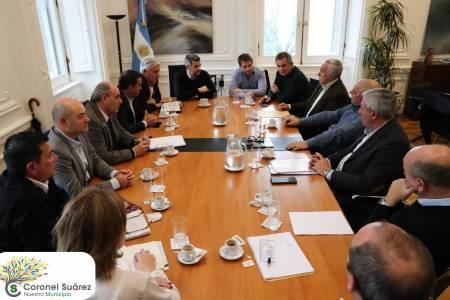 El intendente Palacio se reunió con Marcos Peña, jefe de Gabinete