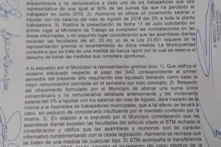"""Allende: """"Rechazamos la oferta que hizo el Gobierno municipal"""""""