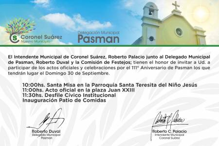 Pasman celebra el 111° Aniversario de su creación