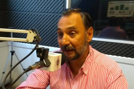 Ricardo Alfonsín visita la ciudad de Coronel Suárez
