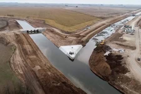 Vidal culmina el Partidor Piñeyro, la obra hidráulica más importante del sudoeste