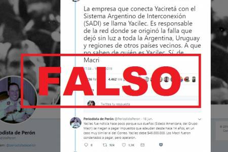 Apagón: verdades y falsedades sobre una ex empresa de Macri mencionada en WhatsApp