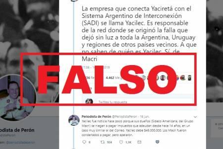 Apagón: verdades y falsedades sobre una ex empresa de Macri mencionada en WhatsApp