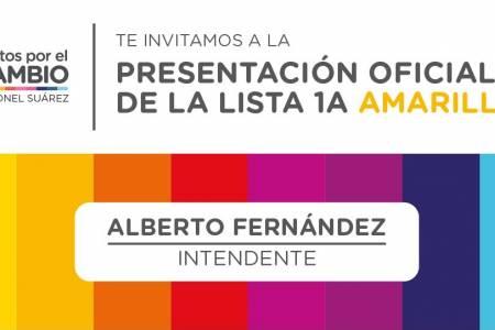 Alberto Fernández presenta a sus candidatos