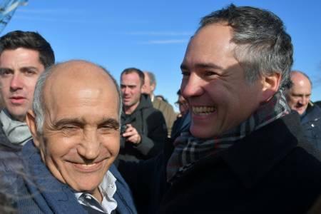 Pedro Rodríguez acompañó al Vicegobernador en la inauguración del Partidor Piñeyro
