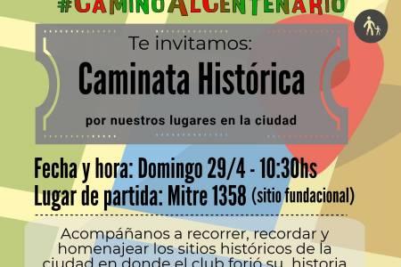 Centro Deportivo Sarmiento organiza una Caminata Histórica