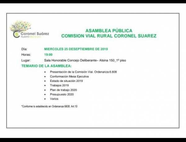 Asamblea Pública de la Comisión Vial Rural de Coronel Suárez
