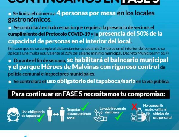 Reunión del comité de crisis - Seguimos en FASE 5