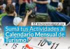 Sumá tus Actividades al Calendario Mensual de Turismo