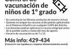 Control de vacunación para alumnos de 1° grado