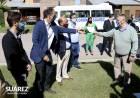"""Katopodis y Simone recorrieron obras y conversaron con los vecinos de Villa Belgrano: """"Domingo Moccero nos trajo el gas a Villa Belgrano y Ricardo -su hijo- nos trae las cloacas"""""""