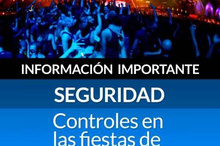 Información importante de Seguridad: Controles en las fiestas de Año Nuevo