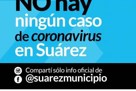 En Coronel Suárez no hay casos sospechosos al día domingo 22 de marzo de 2020
