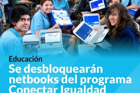 Educación: Se desbloquearán netbooks del programa Conectar Igualdad