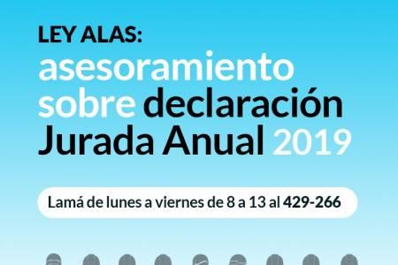 LEY ALAS: asesoramiento sobre declaración jurada anual 2019