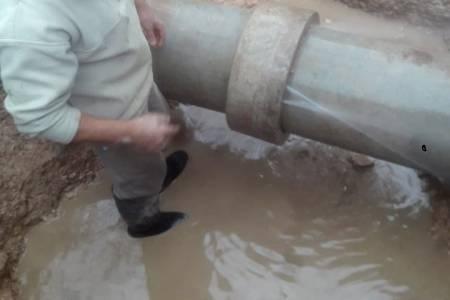 Tareas de reparación en el suministro de agua corriente