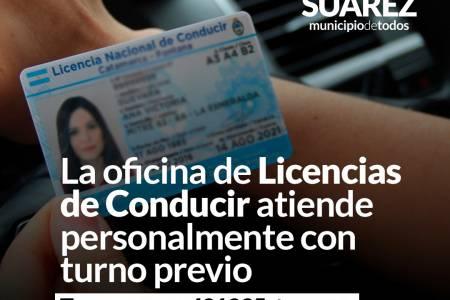 La oficina de Licencias de Conducir atiende personalmente con turno previo