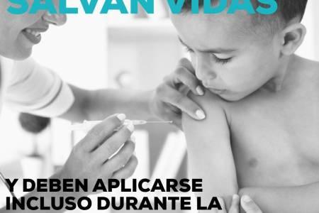 Las vacunas salvan vidas. Vacuna a tus hijos, es GRATIS
