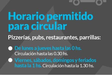 Horario permitido para circular