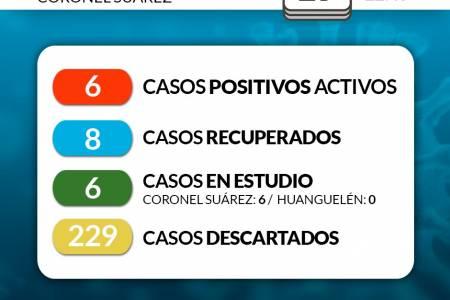 Situación de COVID-19 en Coronel Suárez - Parte: 131 19/8/2020 22:45