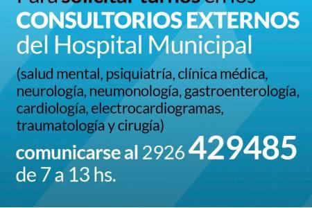 Turnos en consultorios externos del Hospital Municipal